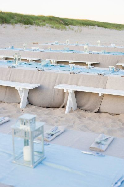 Beach Wedding Table Settingbeach Place Tablescapesbeach Theme