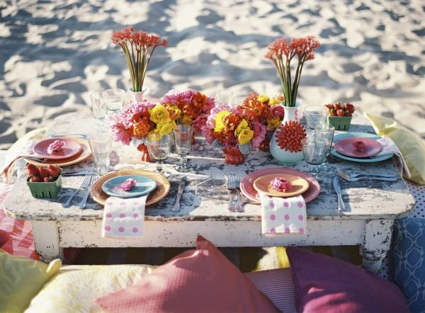 Chic Amp Colourful Beach Wedding Reception Ideas Fab Mood