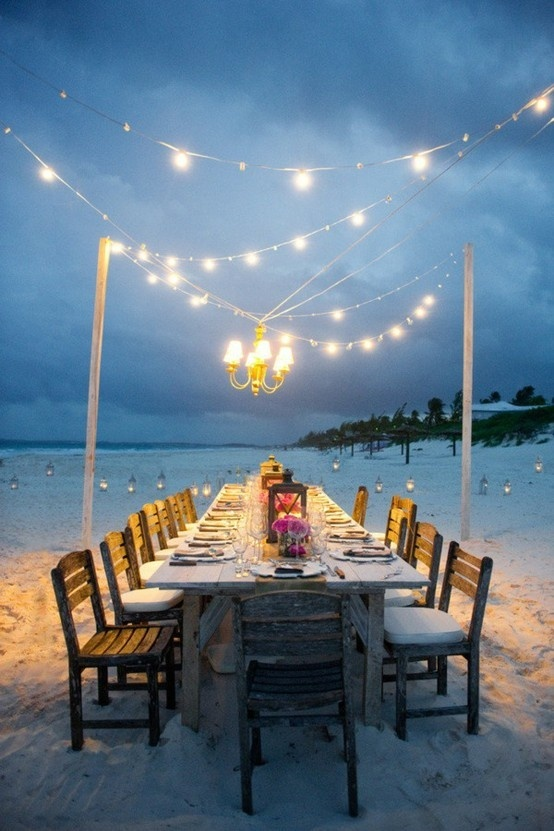 Simple Wedding Reception Table Setting On The Beach Ideas Fab Mood