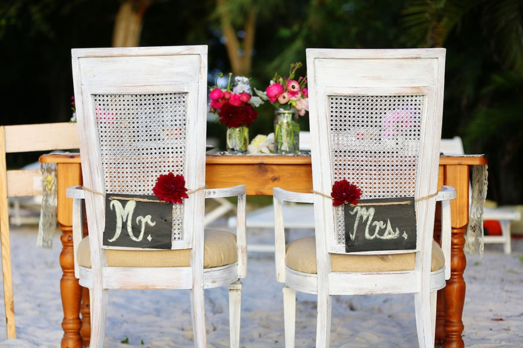 5 Ideas For A Great Beach Themed Wedding In Puglia: Cute Wedding Reception Chair On The Beach Decoration Ideas