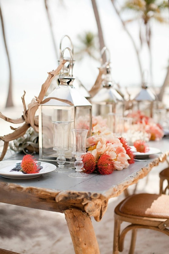 Coral beach wedding reception decoration ideas fab mood wedding coral beach wedding tablescapesbeach theme wedding ideasbeach themed wedding receptionbeach junglespirit Gallery