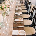 peach wedding tablescapes