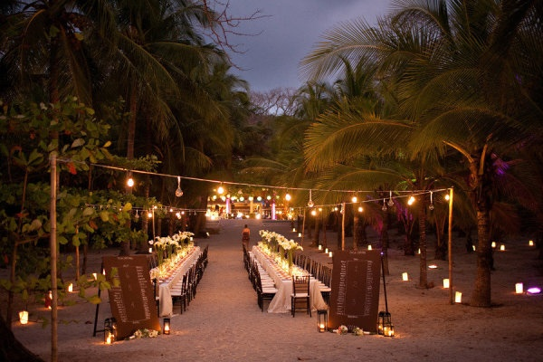 Wedding Reception On The Beach Long Table Setting 1 Fab Mood