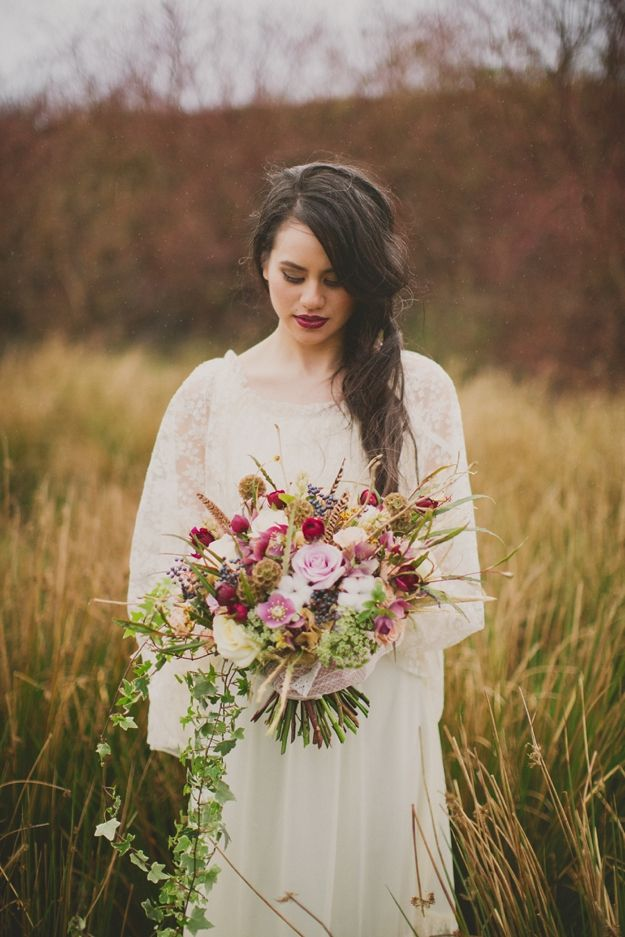 Soft Purple Wedding Bouquet Ideas