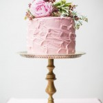 soft pink wedding cake, wedding cake photo