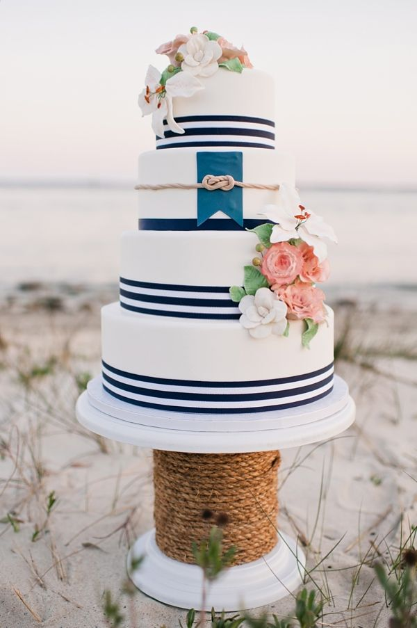 nautical wedding cake, wedding cake, navy wedding cake, beach wedding cake
