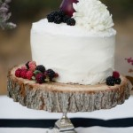 Berry Garnished Rustic Wedding Cake
