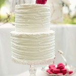 simple wedding cake,ruffle wedding cake,white simple wedding cake