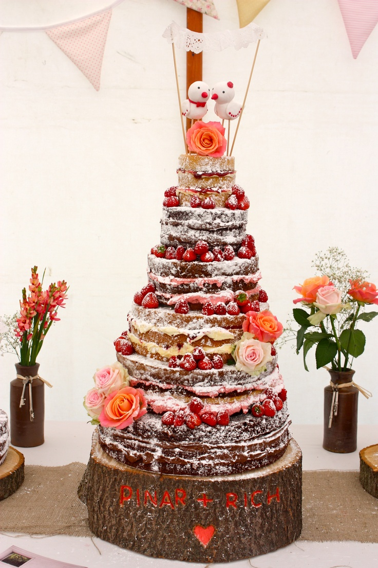 Naked rustic wedding cakerustic autumn wedding cakenaked