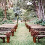 wedding ceremony decor bench