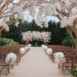 White outdoor wedding ceremony