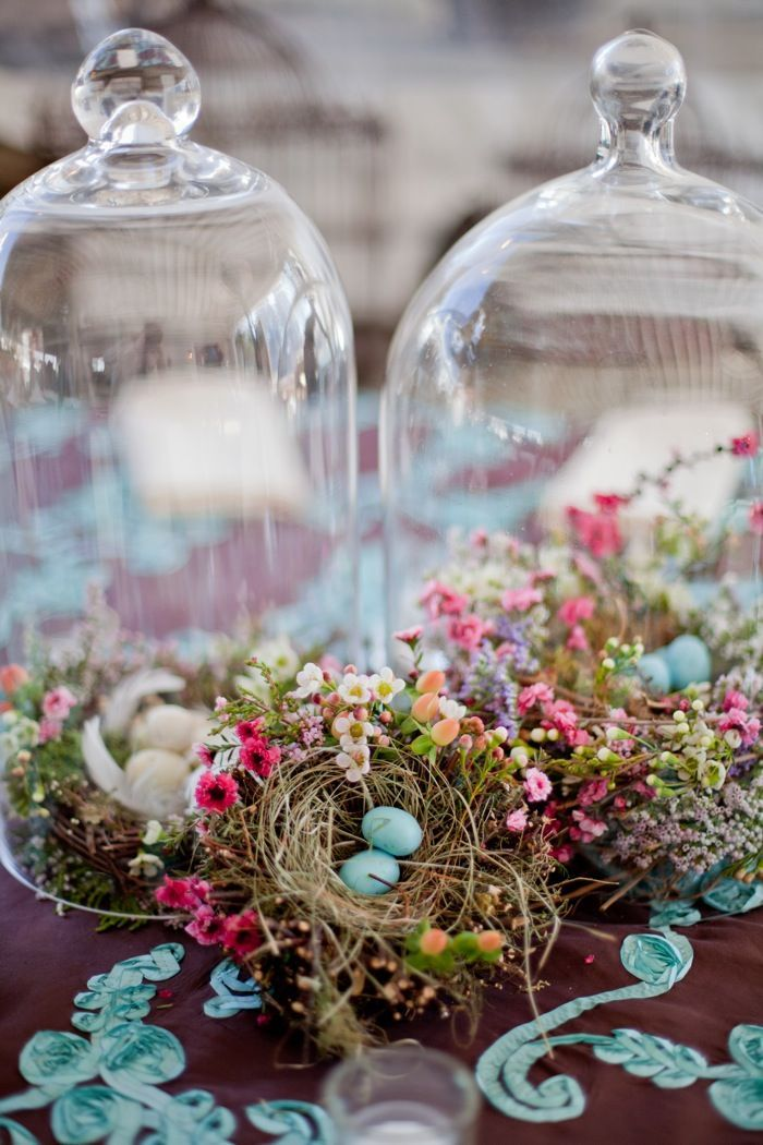 Bell jars, birds nests , wildflowers wedding centerpieces,wedding details, rustic wedding details,wedding reception details,wedding ceremony decoration,wedding reception decoration,wedding decoration ideas,wedding reception decoration ideas,wedding ceremony decoration ideas, wedding reception decors,outdoor wedding decoration ideas,vintage wedding details,wedding decoration diy,rustic wedding decoration ideas