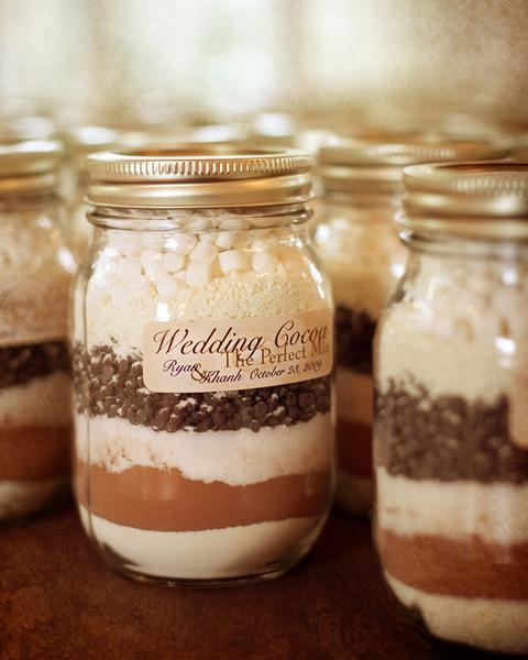 Cocoa wedding favours ideas Fall amp Winter wedding favor