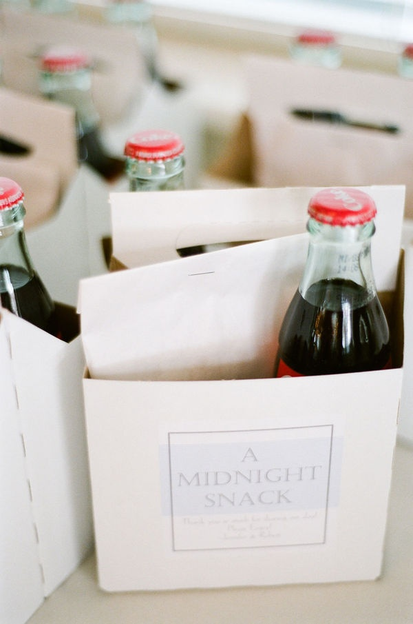 Snack Wedding Favours | Mid night snack favors