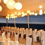 Tented Wedding Reception on the beach