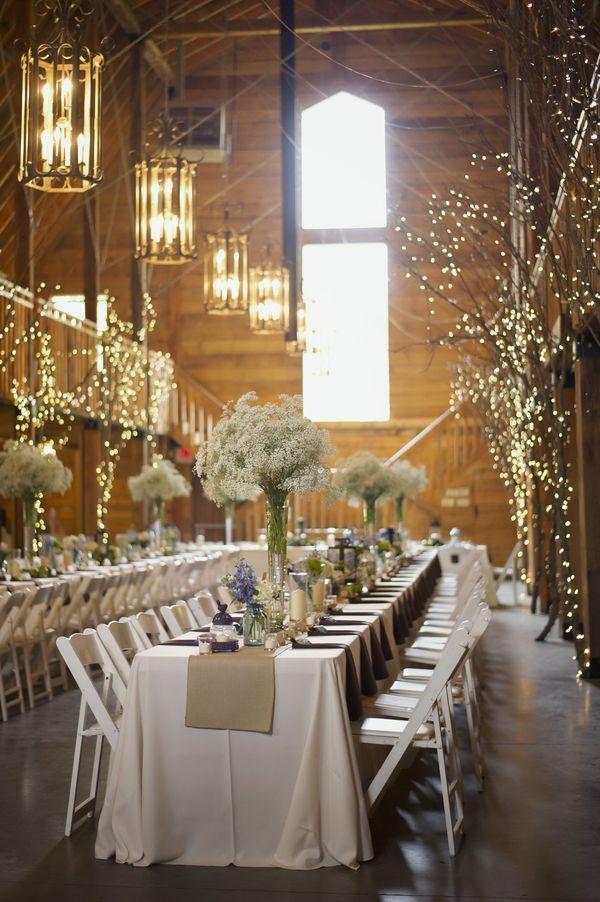 Cozy Barn Rustic Wedding Reception Ideas