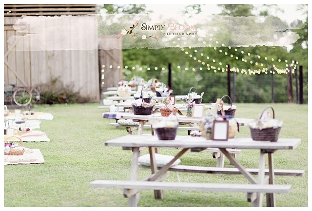 Picnic Style Wedding Reception,outdoor Wedding Reception
