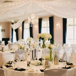 Black & White Wedding Reception