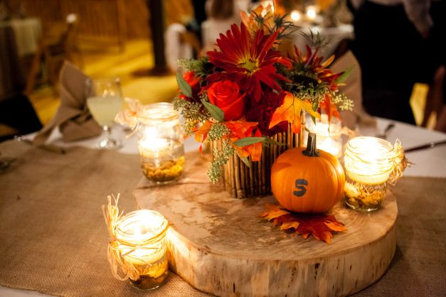 Ideas For Fall Wedding Centerpieces: Autumn Wedding Color Palette { Brown Orange Wedding Colors }