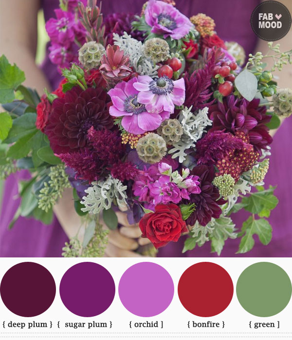fall colored wedding flowers