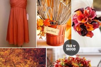 autumn wedding color palette,autumn wedding colour palette, brown orange wedding colors
