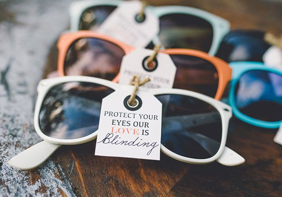 Sunglasses wedding favours ideas - Wedding Colours, Wedding Themes