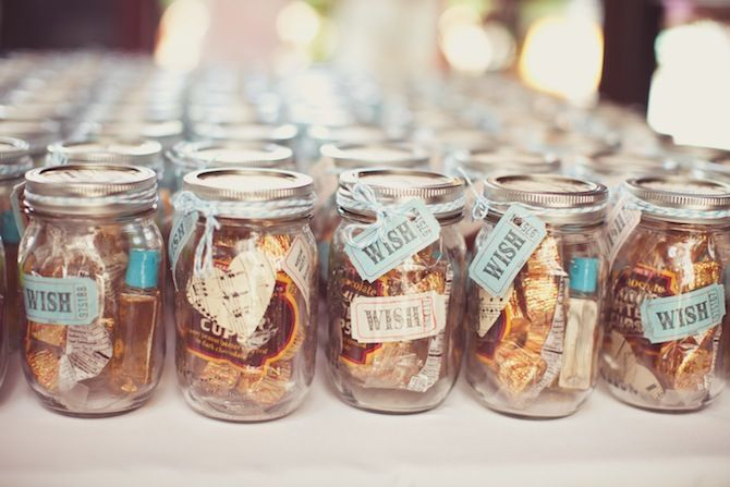 Candy Mason Jar Wedding Favors Home Made Edible