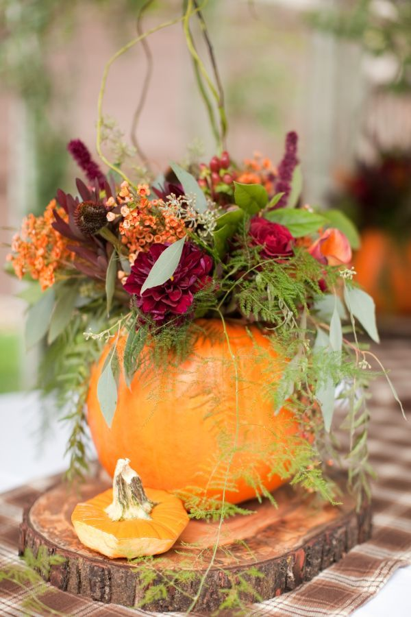 Autumn wedding with pumpkins ideas
