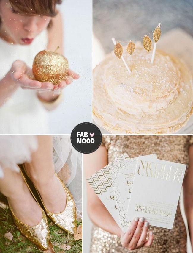 gold wedding colour winter wedding