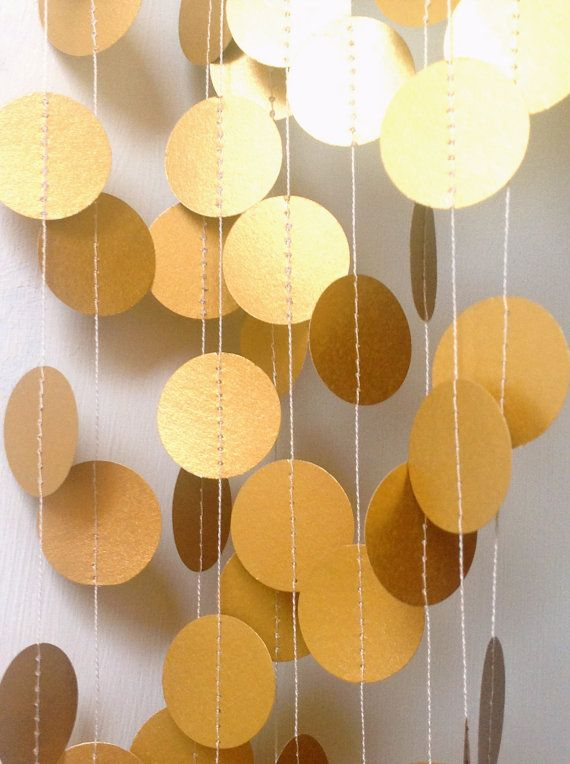 gold wedding garland,gold wedding decoration ideas