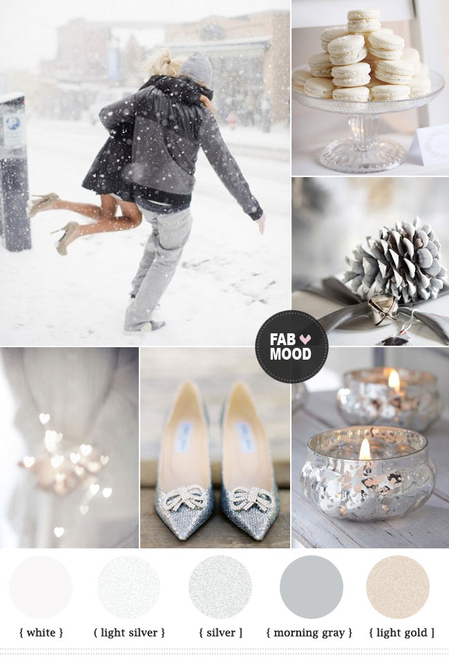 silver colour palette for new year celebration ideas