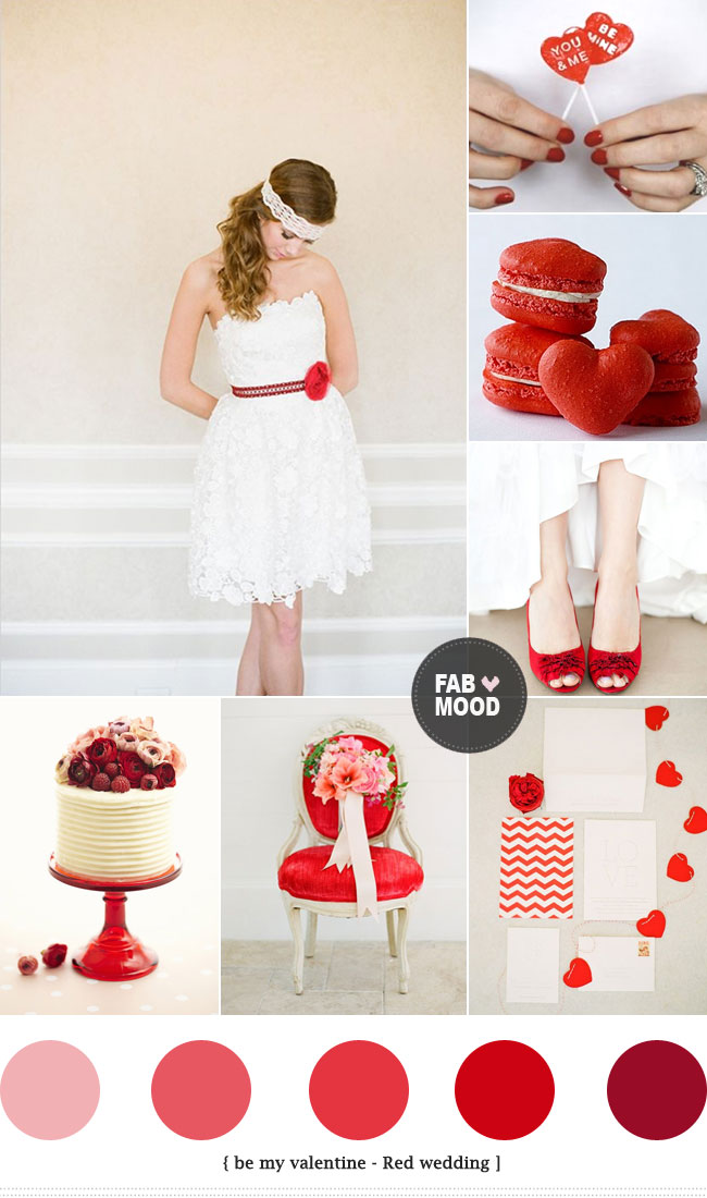 Valentine wedding color ideas