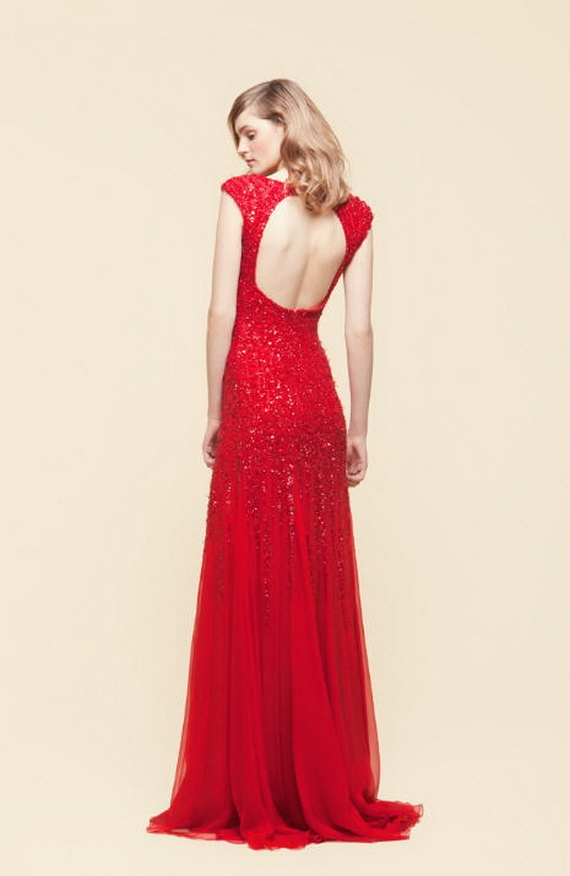 Elie Saab red wedding dress