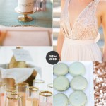 Mint gold Pink Wedding Inspiration Board