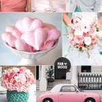 Mint peach pink wedding