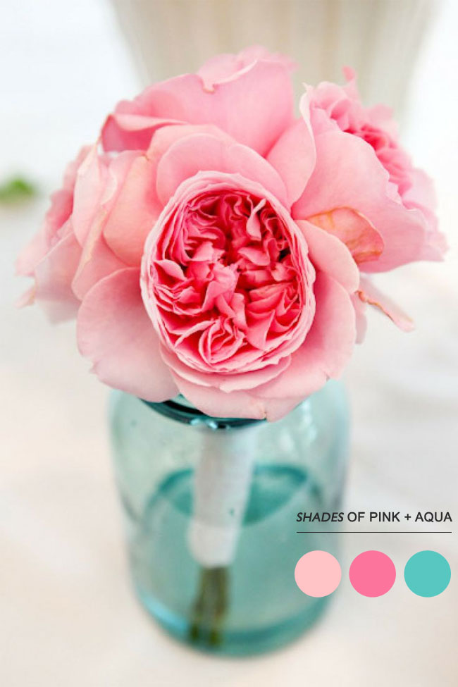 Read more Mint peach pink wedding colors palette, https://www.fabmood.com/mint-peach-pink-wedding-colors-palette/ aqua and pink wedding colors
