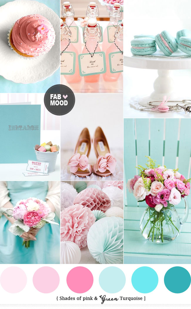 Read more Turquoise Pink Wedding Colors Palette http://www.fabmood.com/turquoise-pink-wedding-colors/ turquoise pink wedding theme,turquoise pink wedding decorations,turquoise pink wedding colors palette,hot pink wedding