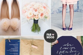 Read more Navy blue and peach wedding colors - http://www.fabmood.com/navy-blue-and-peach-wedding-colors/ navy blue peach wedding