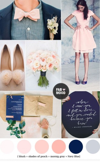 Read more Navy blue and peach wedding colors - https://www.fabmood.com/navy-blue-and-peach-wedding-colors/ navy blue peach wedding