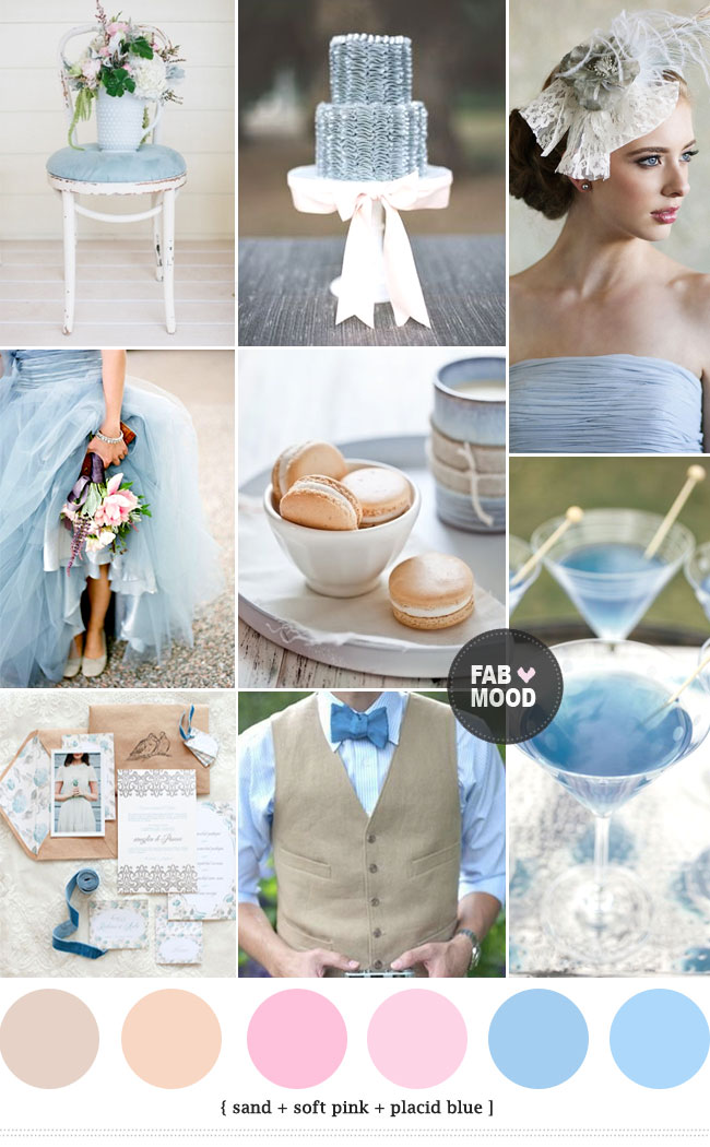 { Pantone Palette } Sand + Placid Blue Wedding