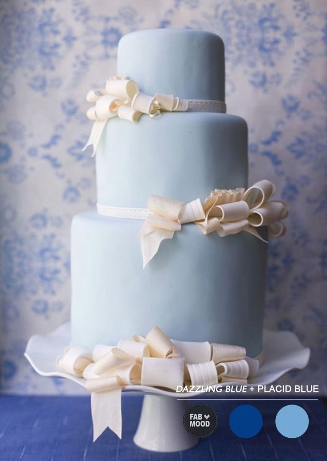 { Pantone Palette } Sand + Placid Blue http://www.fabmood.com/pink-sand-placid-blue-wedding/ placid blue cake,placid blue and dazzling wedding,placid blue cake ideas