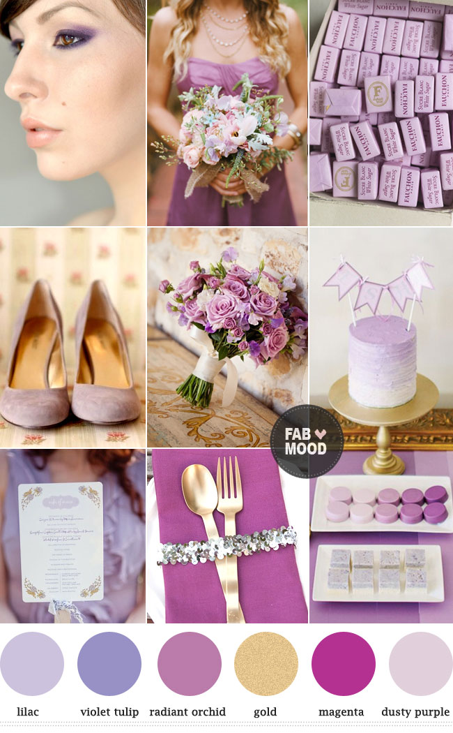 Beautiful Colour Trend Spring 2014 Read more  http://www.fabmood.com/colour-trend-spring-2014-radiant-orchid/ Radiant orchid + Violet Tulip color tren spring summer 2014,pantone viloet tulip wedding palette,radiant orchid gold