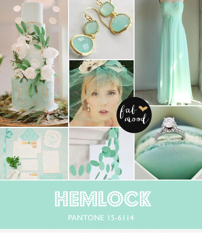 Hemlock wedding color palette read more https://www.fabmood.com/hemlock-pantone-colors-2014/ wedding colors combinations,pantone colors 2014,wedding colours palettes,hemlock wedding palette,color trends spring 2014,wedding colors palettes theme