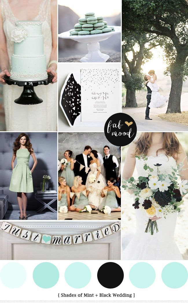 Mint and black wedding read more https://www.fabmood.com/mint-black-wedding/ mint black wedding,mint green and black wedding theme,mint black and white wedding,pantone palette,wedding colour palette,wedidng colors palette