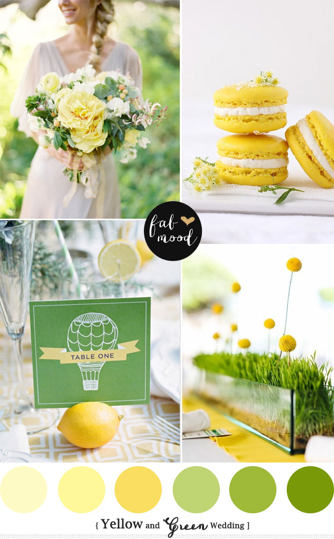 New palette Spring and Summer Wedding read more : https://www.fabmood.com/yellow-green-wedding-colors/ yellow green wedding colors, Yellow green wedding motif,yellow green wedding ideas,Green and Yellow wedding theme