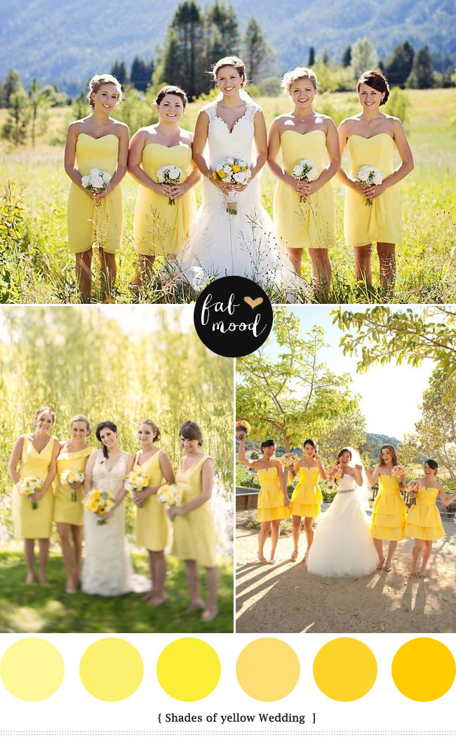 Yellow green wedding colors yellow green wedding motif yellow wedding ideassoft yellow bridesmaid dresses junglespirit Images