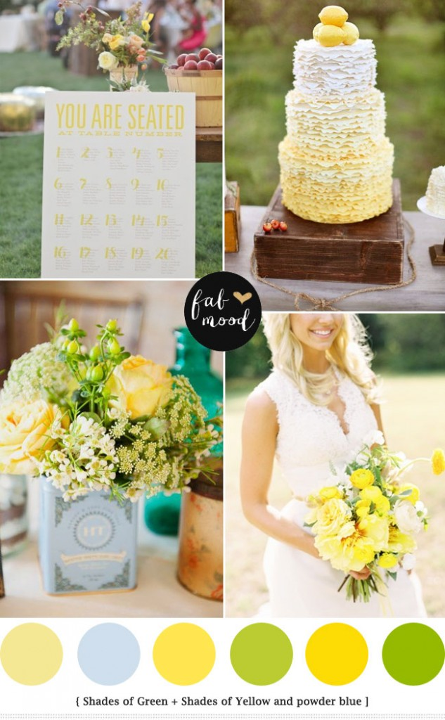 Blue and green summer wedding colour palette spring wedding see blue green yellow wedding colours palettepowder blue green yellow wedding palette yellow green wedding theme ideasyellow blue bouquets junglespirit Images