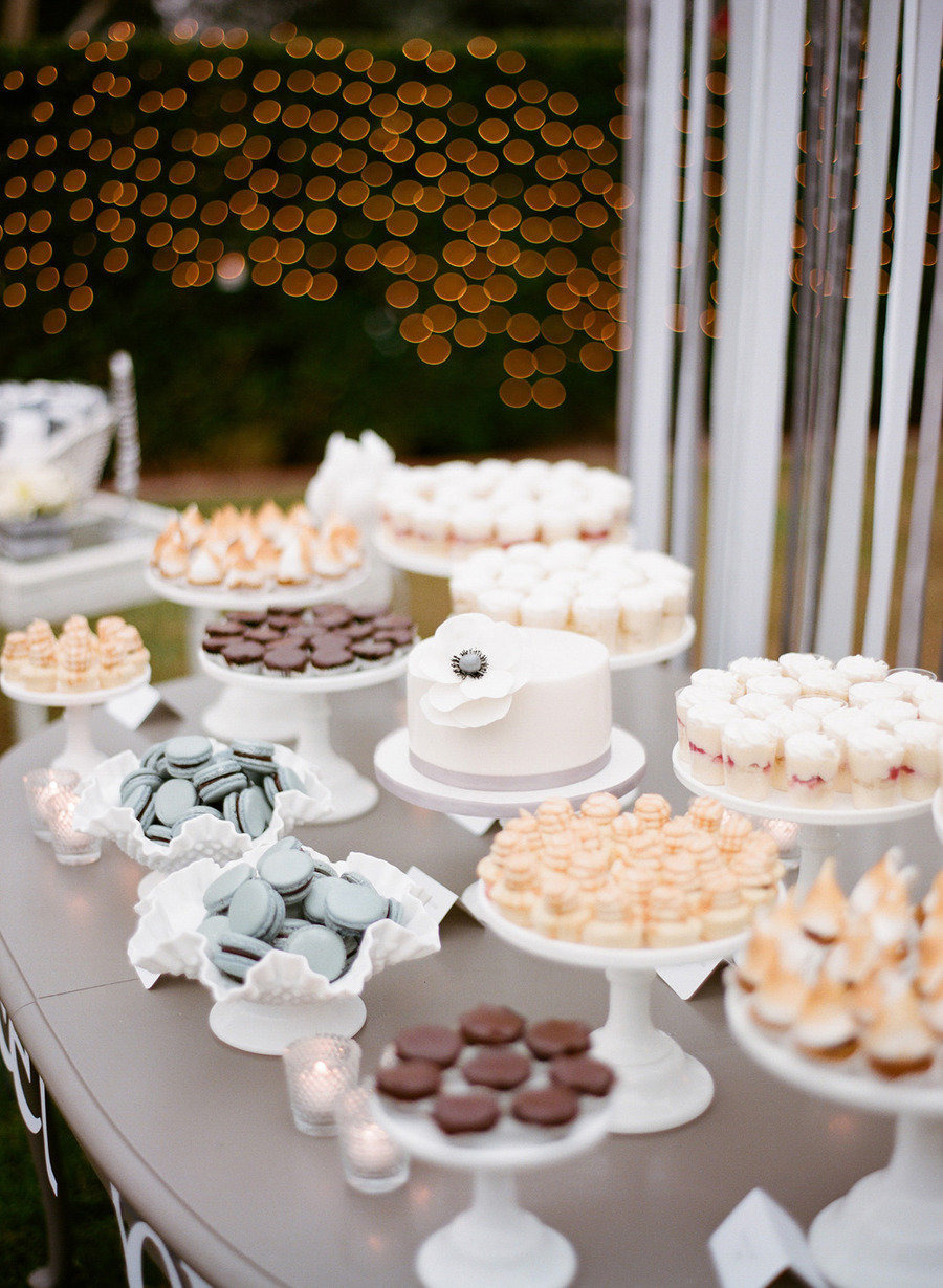 Wedding dessert ideas that are not cake wedding dessert for Mesa de dulces para boda