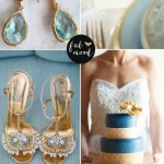 Blue and gold wedding Palette