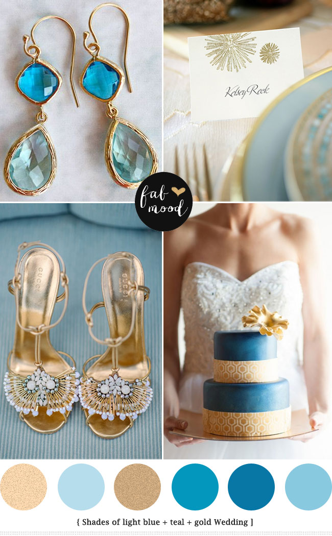 Glamour Blue And Gold Wedding Palette See More Http Www Fabmood
